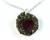 Garnet Birthstone Necklace - Garnet Necklace - Garnet Jewelry - Birthstone Jewelry - Bohemian Gemstone Gift