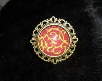 ring pattern yellow-red