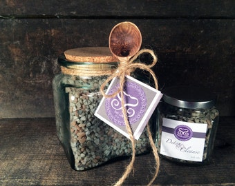 Detox & Cleanse Bath Salts Gift Jar w/Spoon