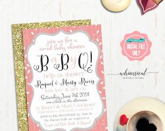 jack and jill invitations | etsy, Baby shower invitations