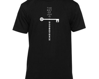 Aleister Crowley | Key of Joy Shirt (occult shirt, thelema, esoteric shirt, goth shirt, graphic tee, occult top)