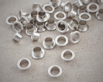 12mm x100Sets Hole round Eyelets / Silver Plated / Grommet / Eyelet / Round Eyelet with Washers