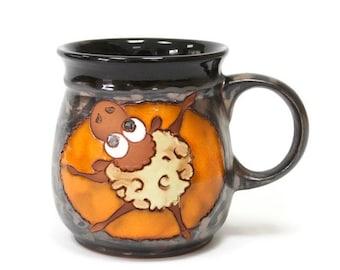 Funny Mug Sheep, Pottery Cup, Pottery Mug, Ceramic Cup, Clay Cup, Stonware Mug, Teacup, Espresso Cup, Pottery teacup, Ceramic Teacup, Mugs