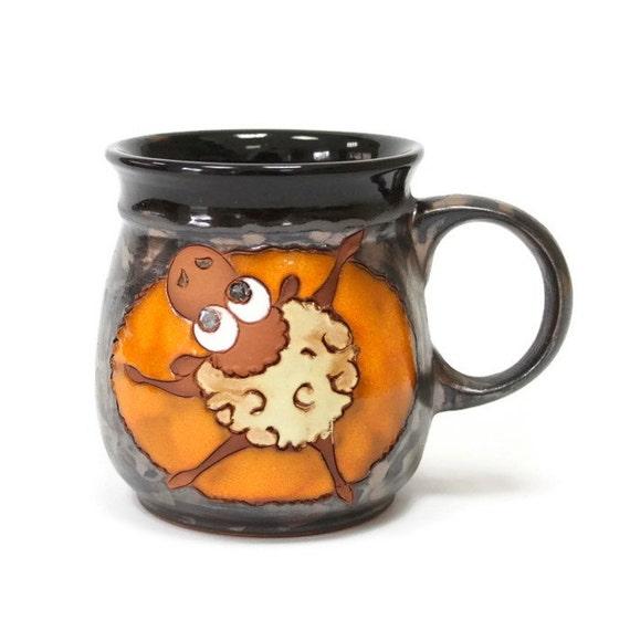 Funny Mug Sheep Pottery Cup Pottery Mug Ceramic Cup Clay