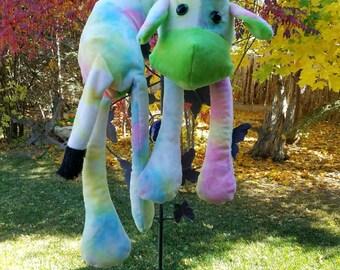 Animal Neck Pillow/Neck Pillow/Travel Pillow/Airplane Neck Pillow/Tie Dye Cow/Rainbow Cow Neck Pillow/Green Neck Pillow/Baby Shower Gift