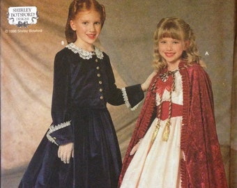 Simplicity 7306 - Little Girl's Top, Skirt, Party Dress and Cloak - Size S M L