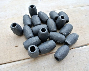 Vintage Lead Sinkers, 5pcs, Fishing Weights, Fishing Net Sinkers, Beach Finds, Craft Supplies,