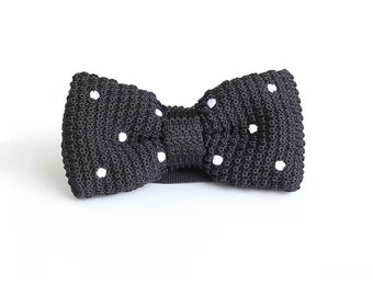 Wedding Knit Bowtie,Personalized Knit Bowtie,Mens Knit Bowtie,Mens Grooming,Bowtie for Party,Mens Gifts,Christmas Gift