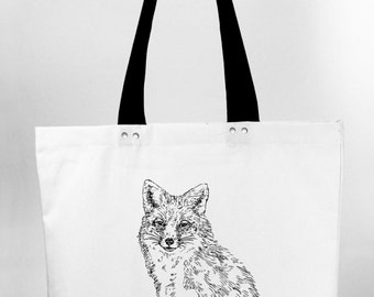 Vixen - hand screen printed cotton canvas tote bag