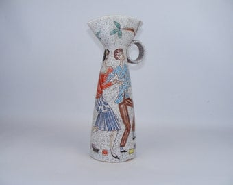 Fratelli Fanciullacci vase with dancing couple