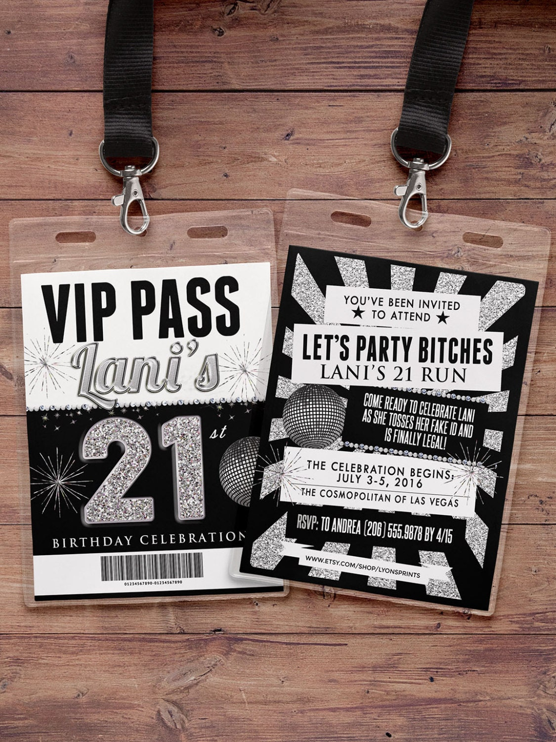 White party, VIP PASS, 21st birthday, backstage pass, concert ...