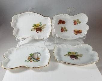 Set of 4  Small Porcelain Trays, (1017)