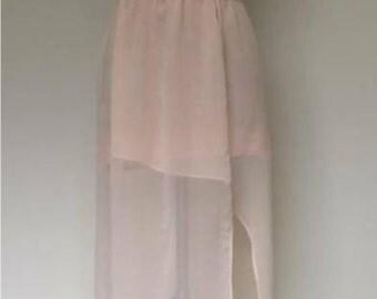 Side Slit Chiffon Skirt
