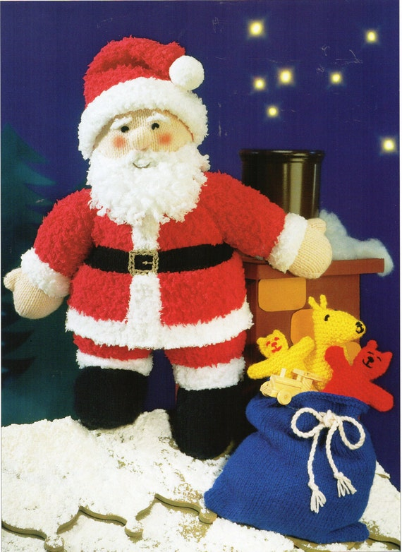 Knitting Patterns Christmas Toys : Santa toy knitting pattern Father Christmas toy knitting