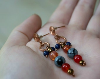 "Beautiful handmade earrings ""Strange Engagement"" by Calisto Breeze"