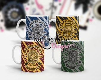 Hogwarts Quidditch Mug gryffindor quidditch mug ravenclaw quidditch mug slytherin quidditch mug hufflepuff quidditch mug hogwarts mug