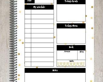 Daily Planner - Black and Gold