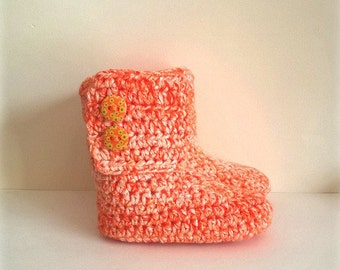 Ankle boots/slippers for infant 3/6 months - Chinees Orange