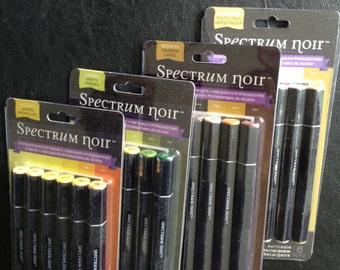 Spectrum Noir Alcohol Markers, Double Ended Professional Markers, Various Colors, Yellows, Greens, Browns, Pale Hues, Your Choice of 1 Pack