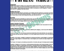 Transformative image within free printable yardzee rules