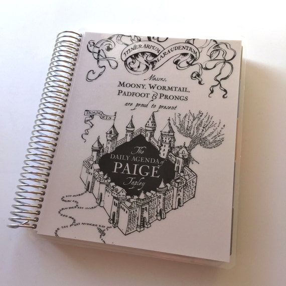 Planner Cover - Marauders Map - Personalized - Fits Erin Condren, Happy Planner and more
