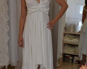 Wedding dress Infinity short in jersey of cotton white, customizable to infinity!