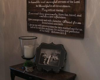 Hebrews Family Mission Statement ~ Noah Design {HFMS36X30}