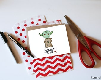 Yoda The One for Me // Yoda Valentine // Star Wars Valentines // Star Wars Cards // Jedi Cards // Force Awakens Valentines