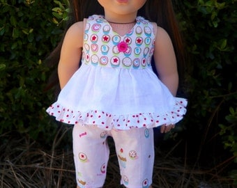 AG Doll Cupcake Shorts and Halter Top Set with Matching Headband