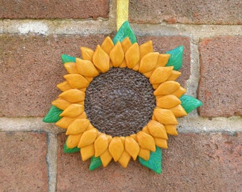 Hanging Sunflower, Sunflower, Sunflower Art, Art, Home Decor