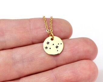 Gemini Gold Plated, Constellation, Sterling silver, Necklace Silver Plated, Gemini Necklace, Zodiac Necklace, Zodiac Jewelry, Birthday Gift