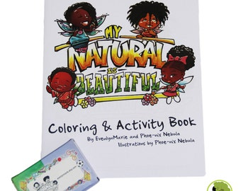 My Natural Is Beautiful Coloring & Activity Book **Includes a pack of crayons