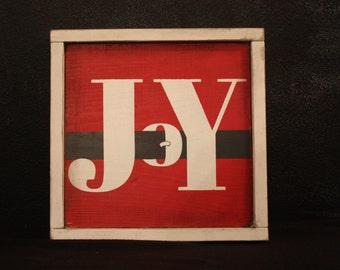 JOY wood sign--Santa Buckle