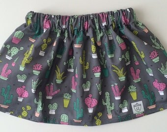 SALE! Girls Cactus Skirt, Colorful Cactus Skirt, Modern Cacti