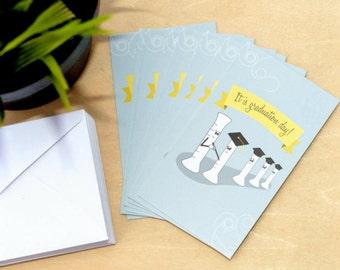Mini Science Graduation Cards Set of 12 | Graduated Cylinder | Biology Chemistry Physics | Student, Scientist, Girlfriend Boyfriend Engineer