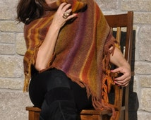 Shawl/ wrap/ Hand Knitted Shawl/ Shrug/ Cozy Wrap/ Gift For her/ 100% Handmade/