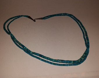 Vintage Native American Turquoise Dual Strand Necklace