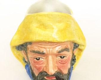 Vintage Staffordshire Fisherman Character Mug Toby Jug