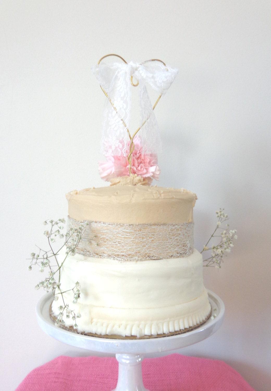 Wedding Cake Toppers Rustic Wedding Cake Topper Heart Cake
