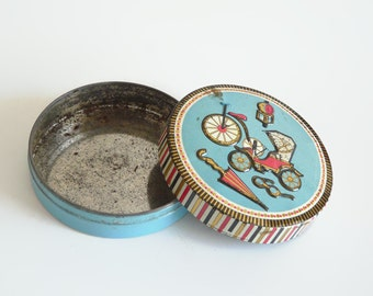 Small vintage embossed tin | vintage collectible tin