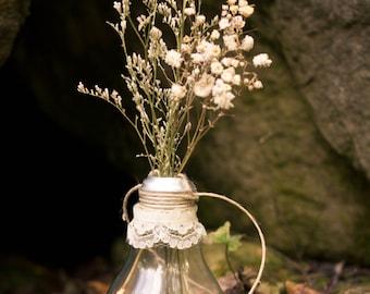 Vintage Lace Light Bulb Vase
