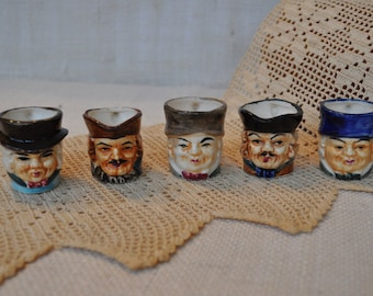 Reduced! Five Toby Mugs/Pitchers - Miniature Vintage Made in Japan