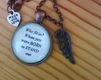 Where your quotes in a necklace.