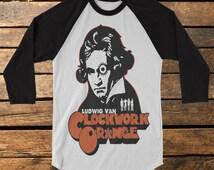 "Clockwork Orange ""Beethoven"" Baseball Tee Raglan Shirt"