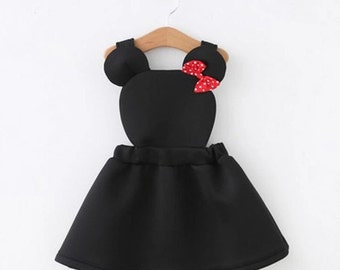 Minnie Mouse toddler dress- two colors