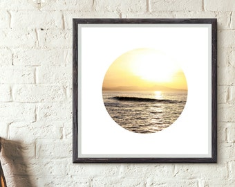 Printable art - Sunset wave. Instant download