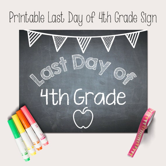 Printable Last Day of School Sign School by ...
