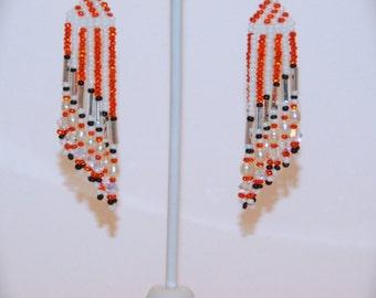 Dazzling Orange and White Stripes