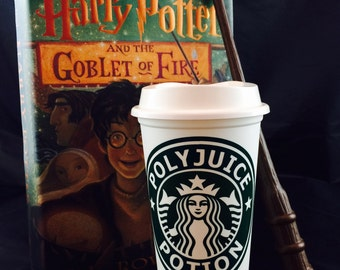 """Harry Potter inspired """"Polyjuice Potion"""" Starbucks Travel Cup"""