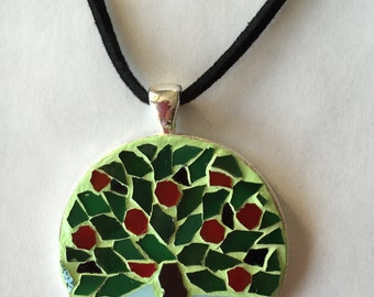 "Pendant in mosaic technique ""The four seasons"" (summer)"